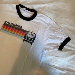 """American Apparel """"California"""" ringer t shirt"""